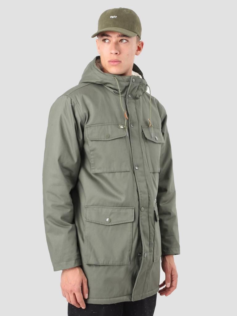 Obey Obey Heller II Jacket Army 121800287 Arm