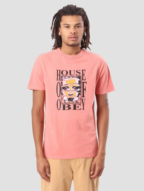 Obey House Of Obey Basic Pigment T-Shirt Dusty Coral 166721726