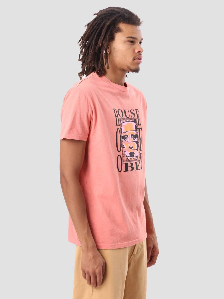 Obey Obey House Of Obey Basic Pigment T-Shirt Dusty Coral 166721726