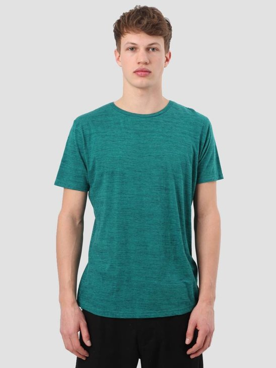 RVLT Injection Melange T-Shirt Petrol 1932