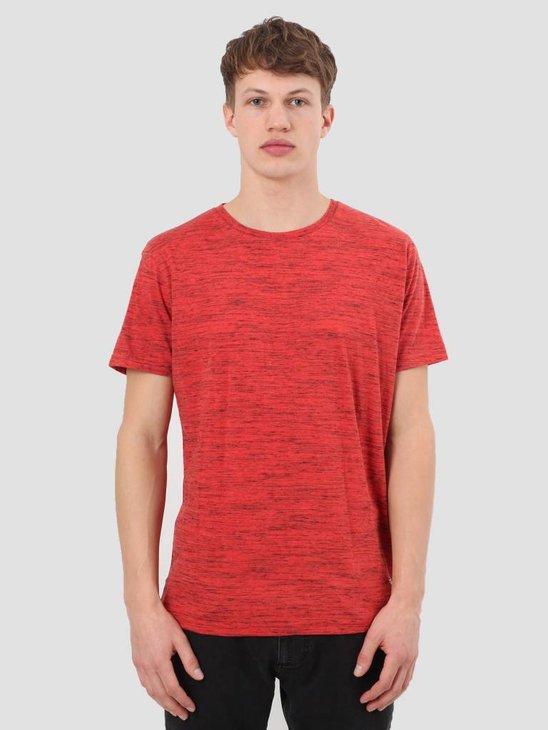 RVLT Injection Melange T-Shirt Red 1932