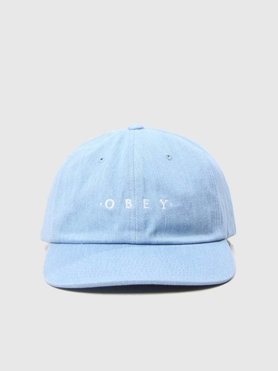Obey Intention 6 Panel Snapback Light Denim 100580150