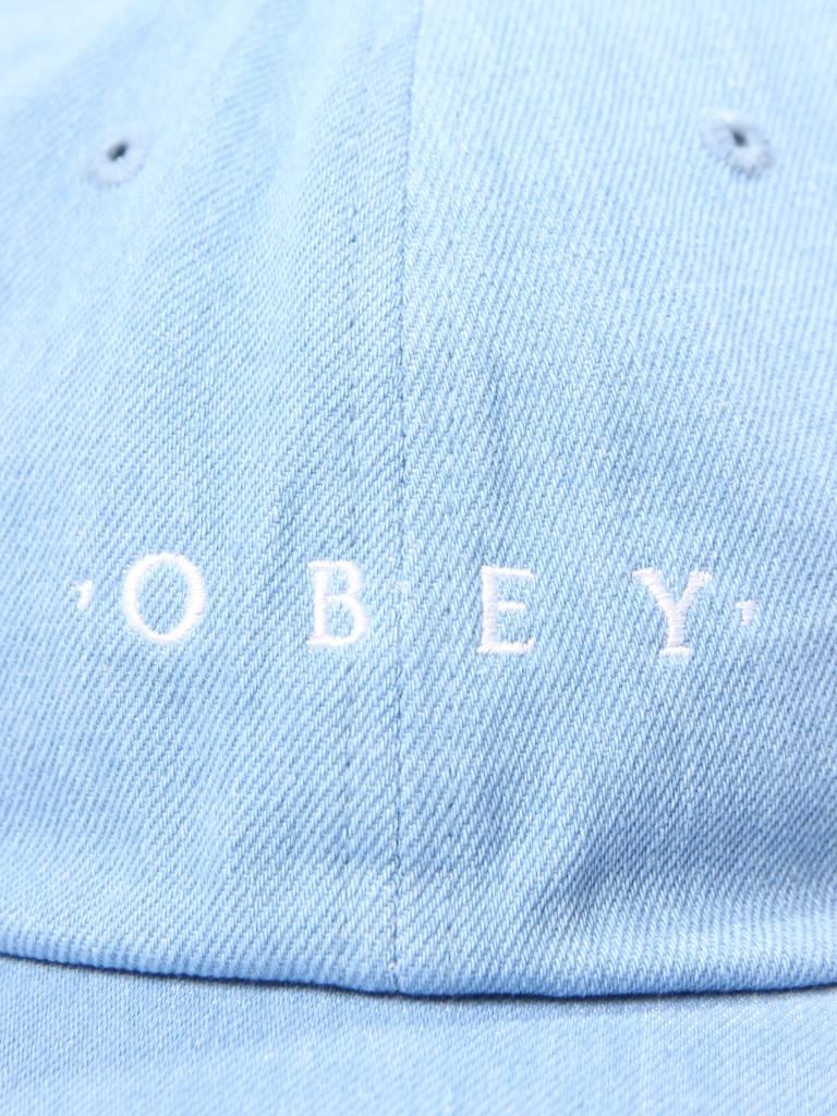 Obey Obey Intention 6 Panel Snapback Light Denim 100580150