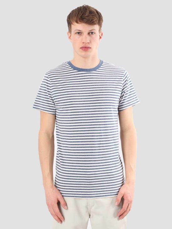 Kronstadt Jakova Tee Indigo Off White T-shirt KRSS18-KS1264