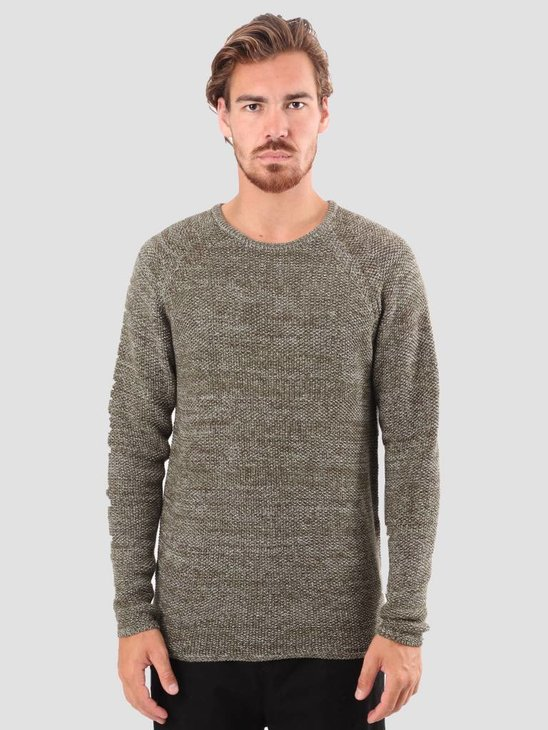 RVLT Joakim Knit Dark Army 6293