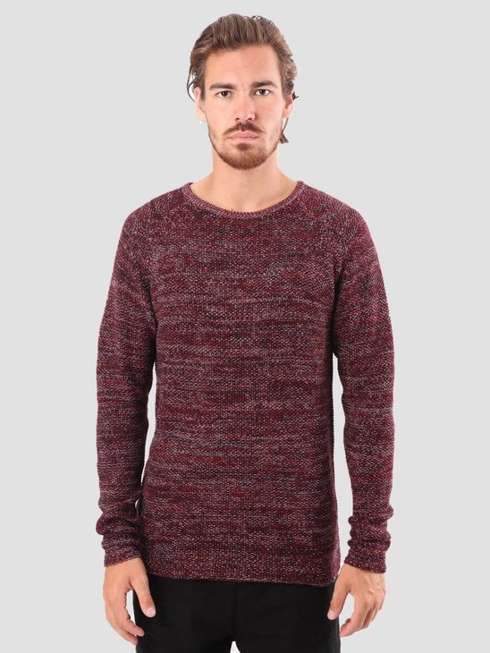 RVLT Joakim Knit Dark Red 6293