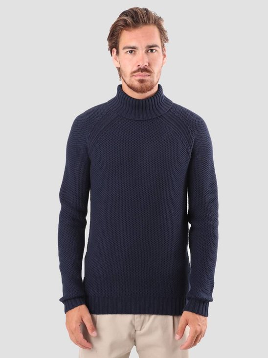 RVLT Jonas Heavy Knit Navy 6485