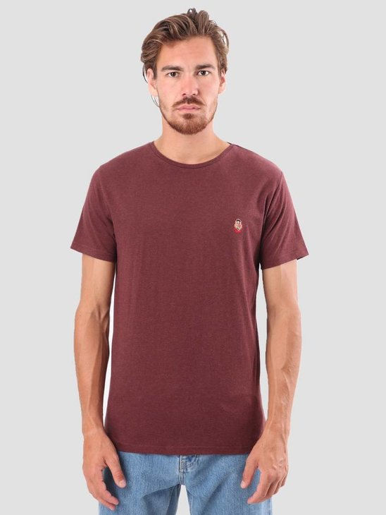 RVLT Kenneth Printed T-Shirt Bordeaux 1953