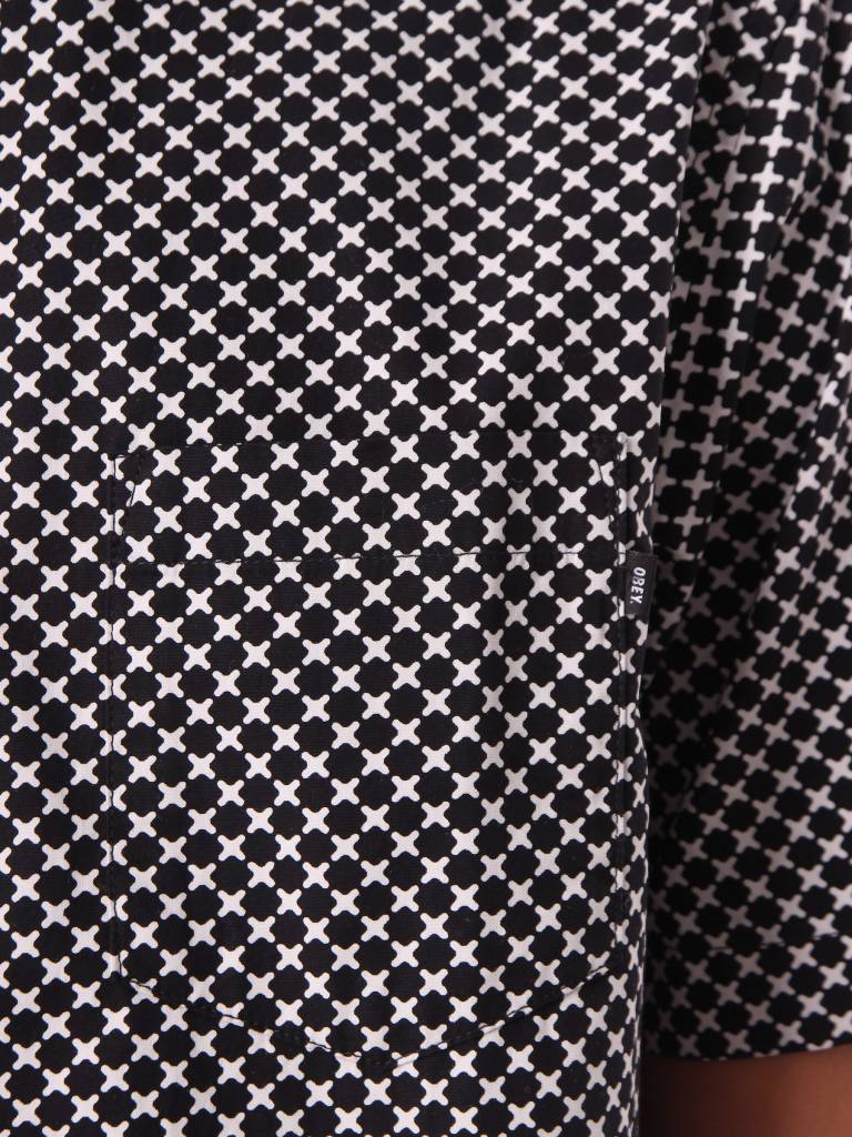 Obey Obey Landri Woven Shirt Black Multi 181210202