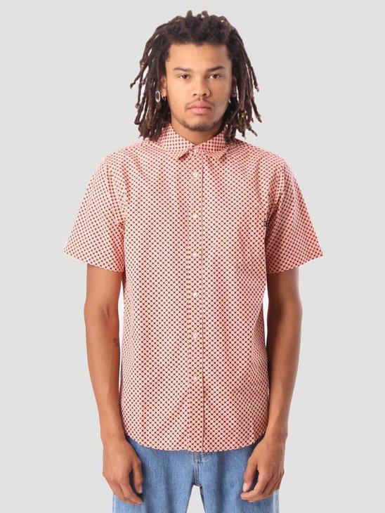 Obey Landri Woven Shirt Coral Multi 181210202
