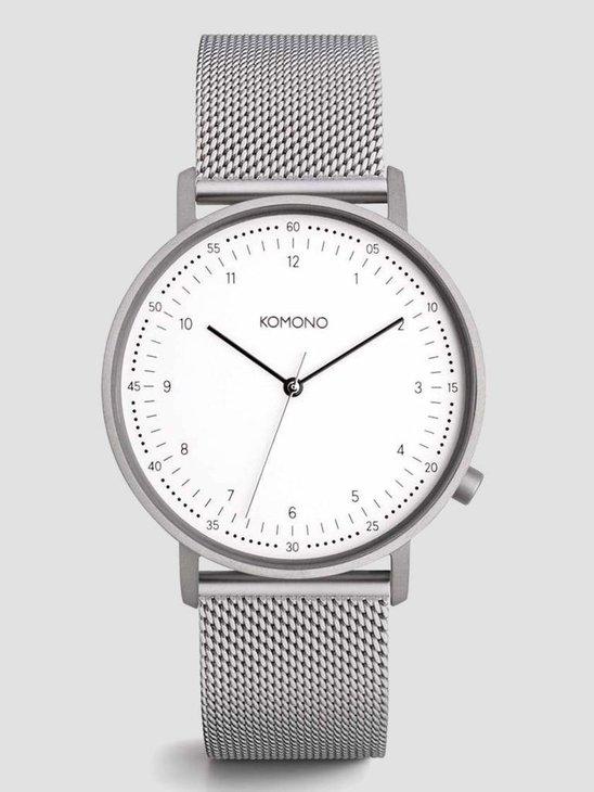 Komono Lewis Silver Mesh Watch KOM-W4060