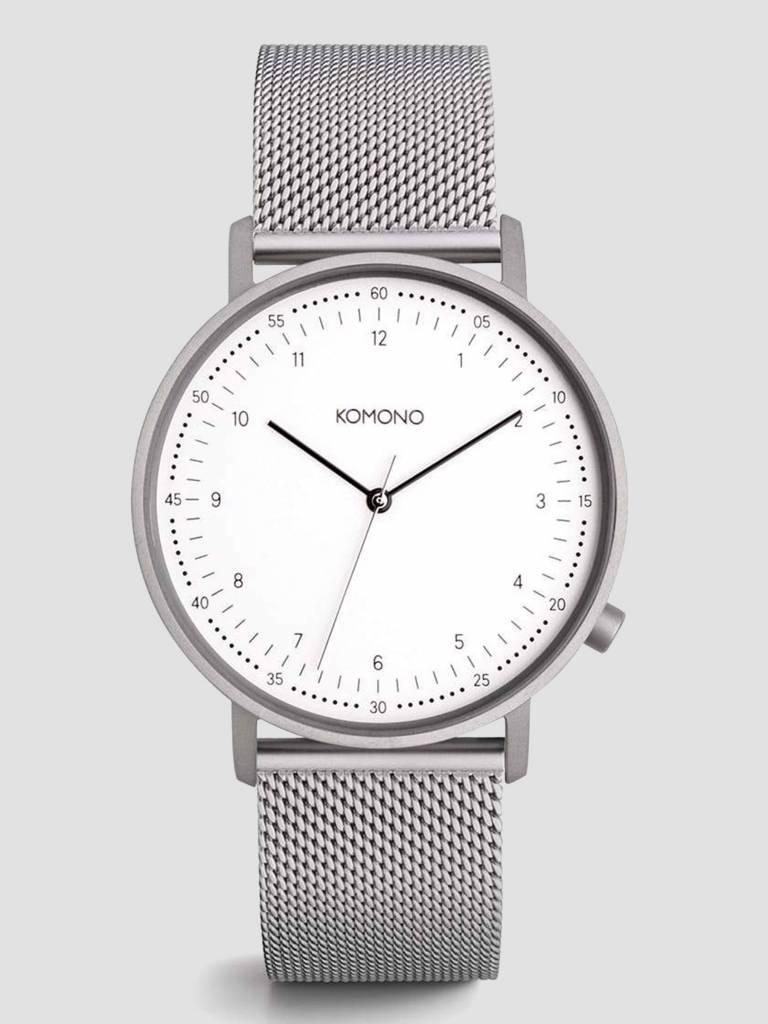 Komono Komono Lewis Silver Mesh Watch KOM-W4060
