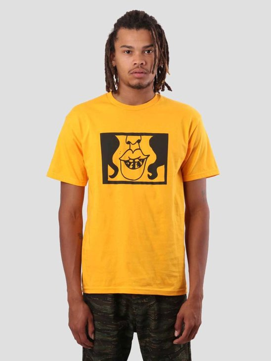 Obey Lips Gold T-Shirt 163081837