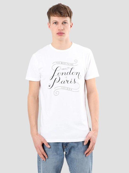 Ceizer London Paris T-Shirt White S18-26