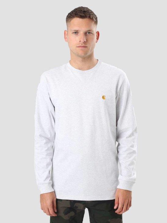 Carhartt Longsleeve Chase T-Shirt Ash Heather Gold I022923
