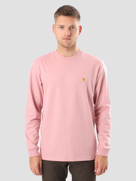 Carhartt WIP Longsleeve Chase T-Shirt Soft Rose Gold I022923