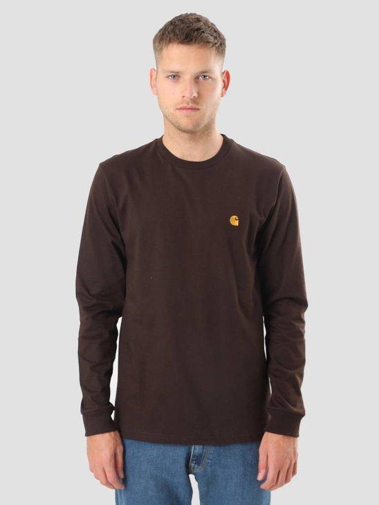 Carhartt WIP Longsleeve Chase T-Shirt Tobacco Gold I022923