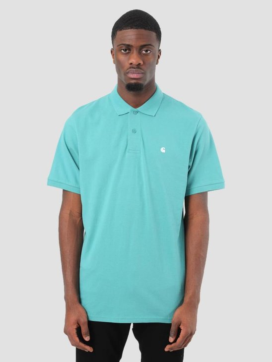 Carhartt Madison Polo Soft Teal White I023808-71590