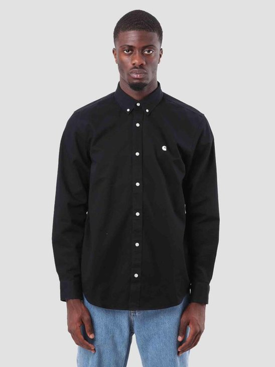 Carhartt Madison Shirt Black Wax I023339-8990