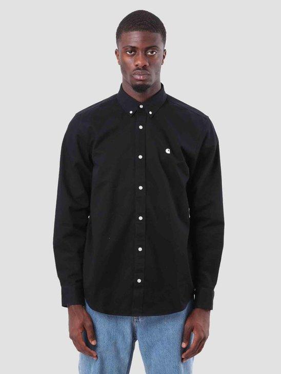 Carhartt WIP Madison Shirt Black Wax I023339-8990