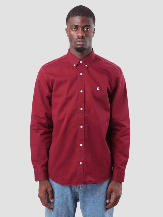 Carhartt WIP Madison Shirt Mulberry Wax I023339-88490 ... e6b68442846e