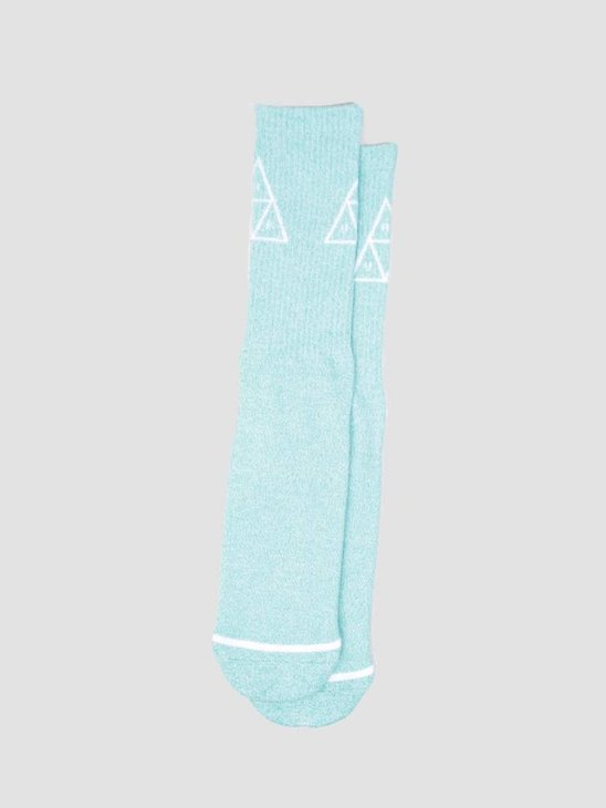 HUF Melange Triple Triangle Socks Bright Aqua SK00242