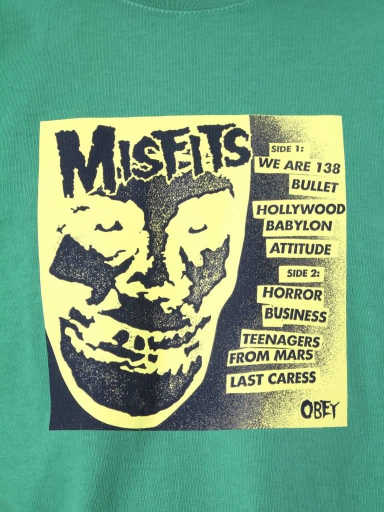 Obey Obey Misfits 7 Cover Vintage Green 166911765-VGR