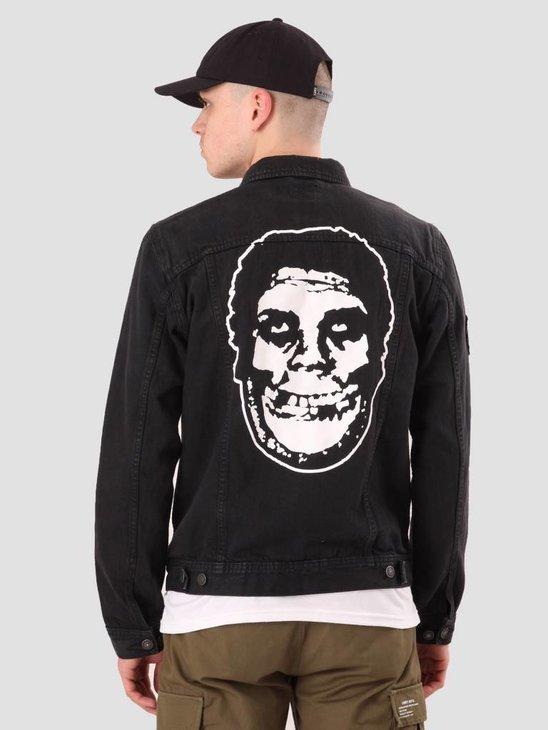 Obey Misfits Denim Jacket Black 121800327-BLK