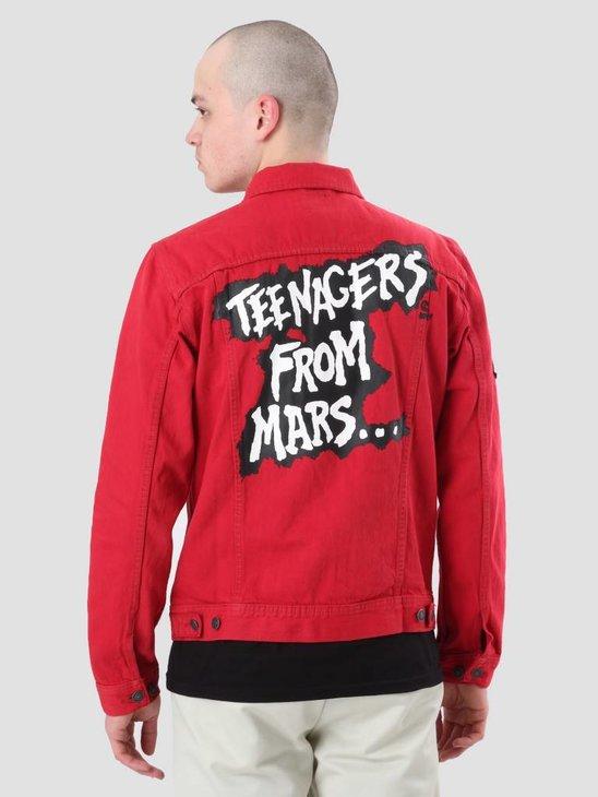 Obey Misfits Denim Jacket Red 121800327-RED