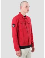 Obey Obey Misfits Denim Jacket Red 121800327-RED