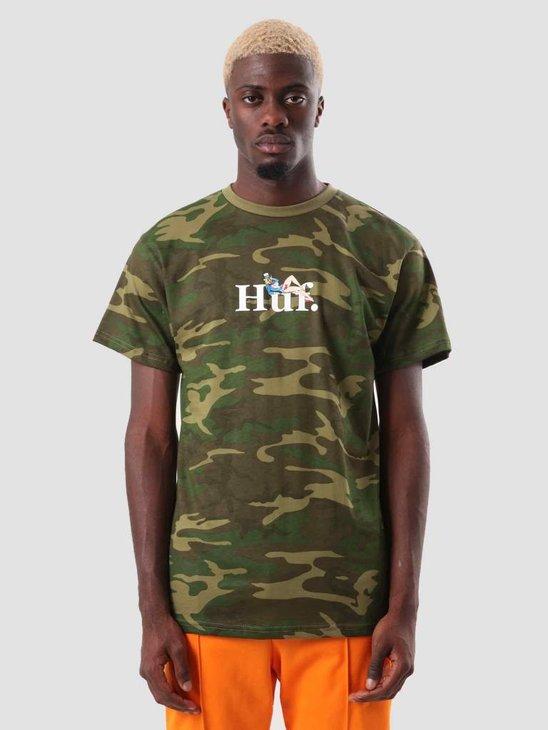 HUF Miss America T-Shirt Woodland Camo TS00623