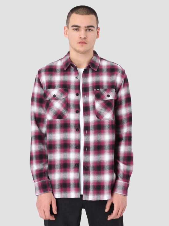 Obey Mission Woven Shirt Raspberry 181200214
