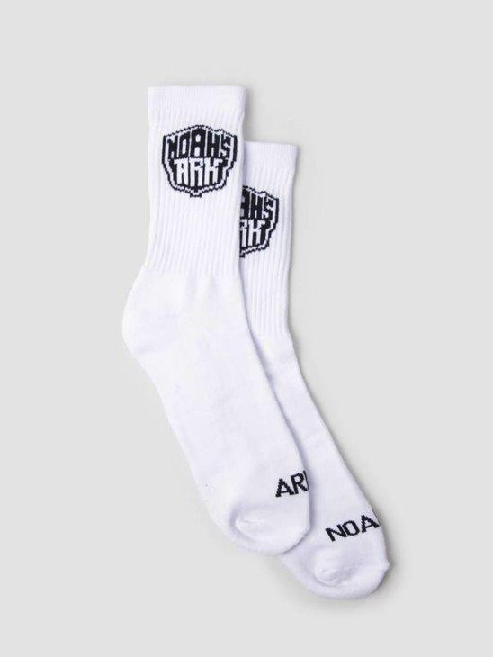 Noahs Ark NA Logo Sock White