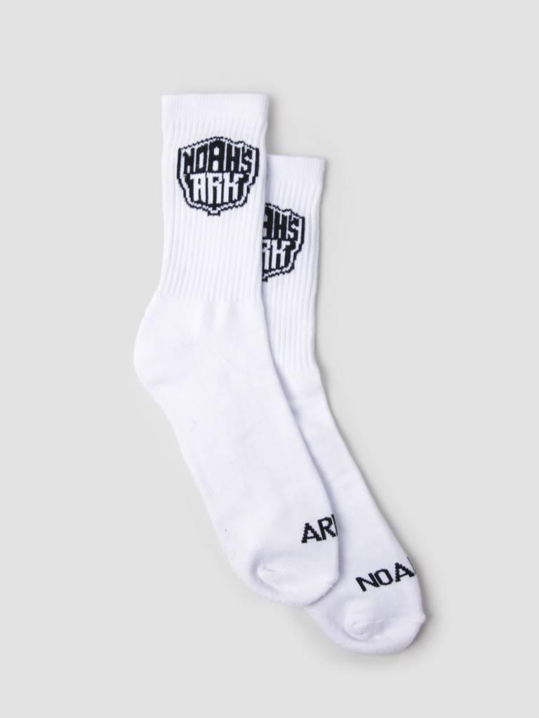 Noahs Ark Noahs Ark NA Logo Sock White