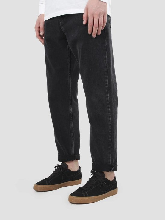Carhartt WIP Newel Pant Stone Washed Black I024905-8906