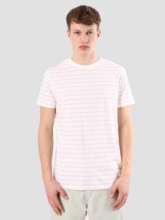 Kronstadt Nick White Pink T-shirt KRSS18-KS2450