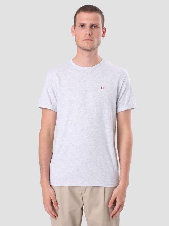 Les Deux Norregaard T-Shirt Snow Melange LDM101008