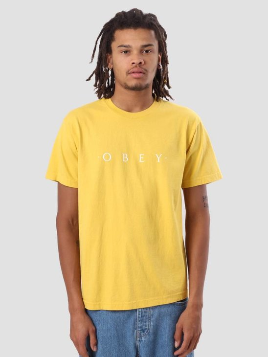 Obey Novel Obey Heavy Weight Classic Box T-Shirt Spectra Yellow 166911578