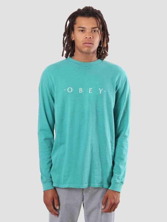 Obey Novel Obey Longsleeve Dusty Teal Blue 166731578