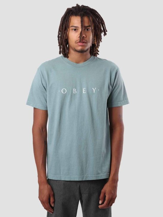 Obey Novel Obey T-Shirt Atlantic Green 166911578
