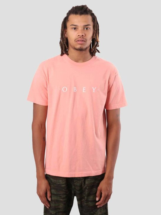 Obey Novel Obey T-Shirt Coral 166911578