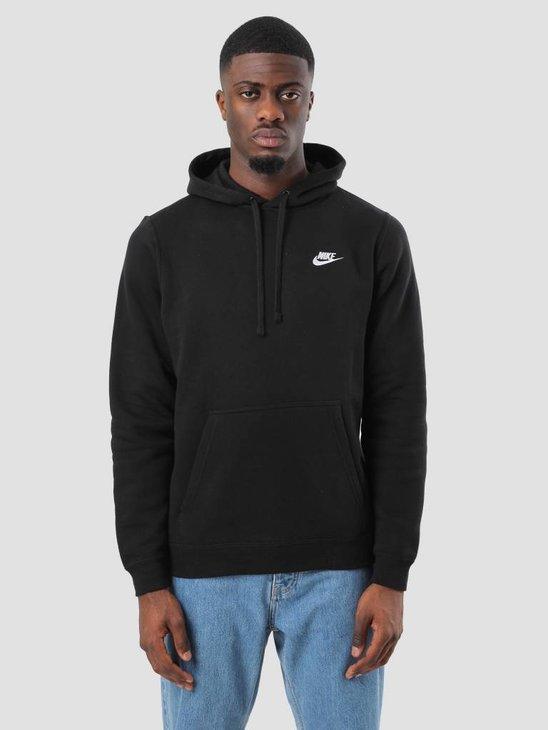 Nike NSW Hoodie Black Black White 804346-010