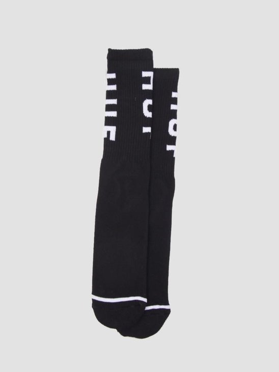 HUF OG Logo Socks Black SK00239