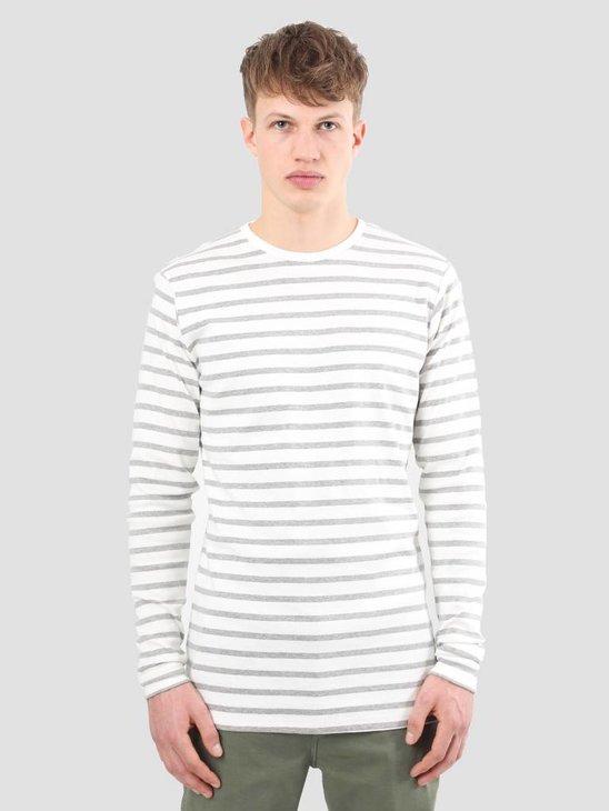 Kronstadt Oscar Tee Off White Grey Mell KRSS18-KS1162