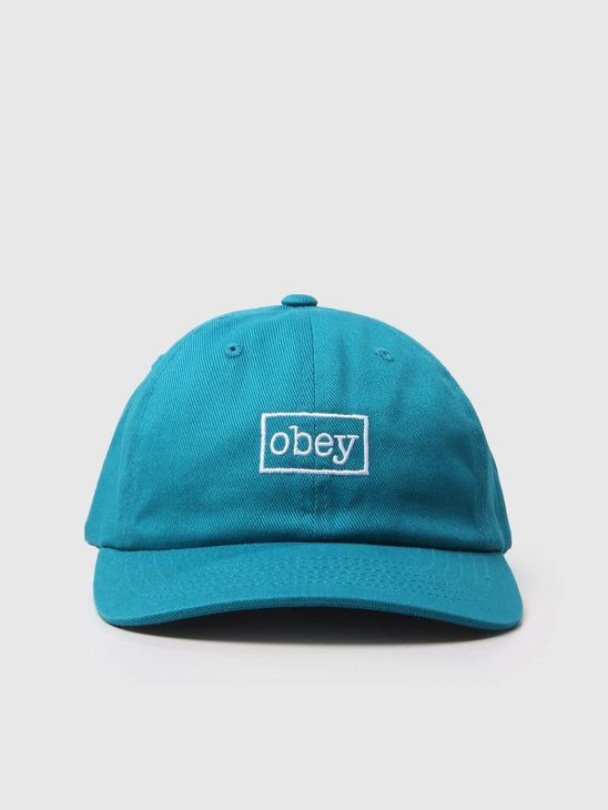 Obey Outline 6 Panel Snapback Teal 100580126