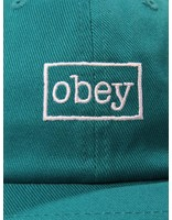 Obey Obey Outline 6 Panel Snapback Teal 100580126