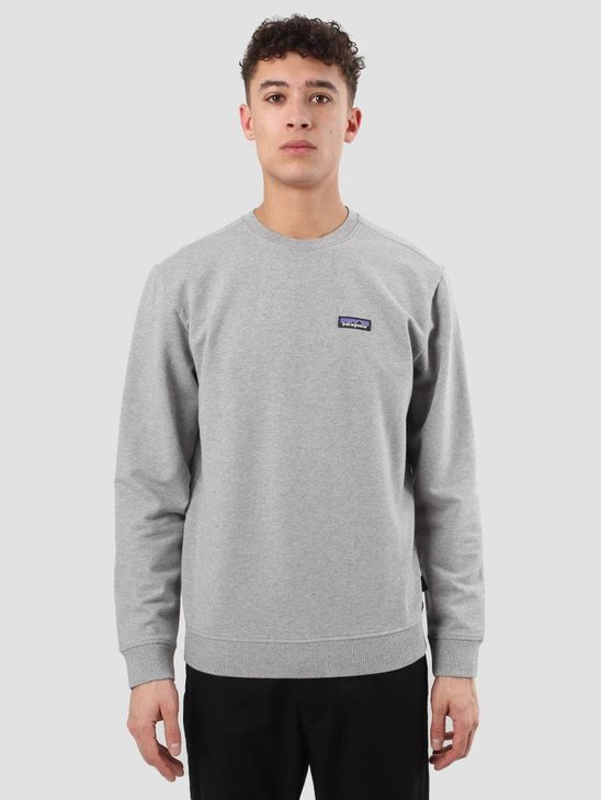 Patagonia P-6 Label MW Crewneck Feather Grey 39486
