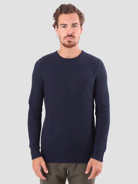 RVLT Petter Heavy Knit Navy 6477
