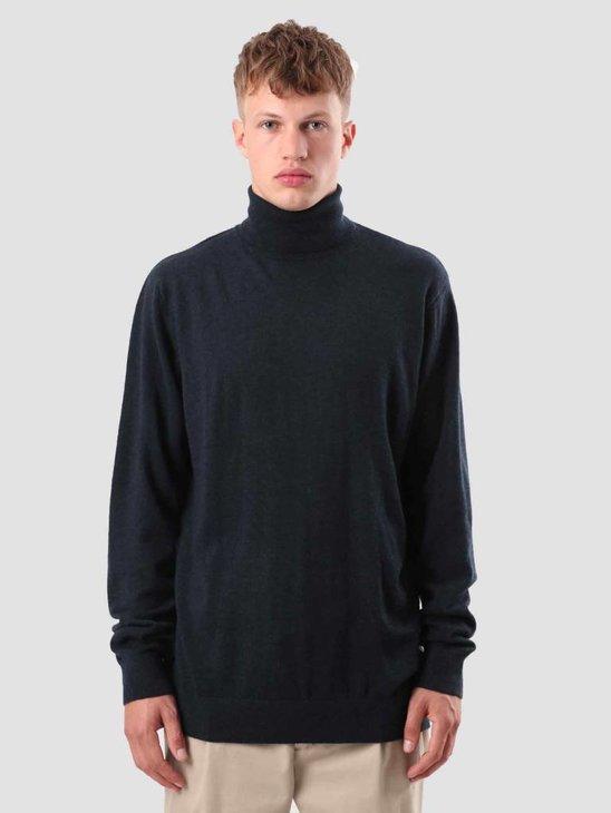 Carhartt Playoff Turtleneck Sweater Dark Navy Heather I023368-VE00