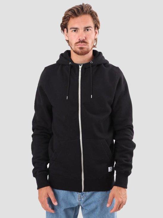 RVLT Preben Zip Hoodie Sweatshirt Black 2011